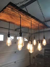 reclaimed wood chandelier