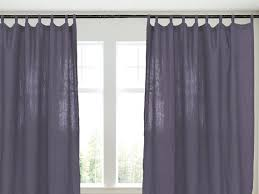 dark purple long linen curtains pencil