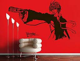 Amazon Com Vinyl Wall Decal Sticker Anime Comics Vampire Boy Gun Japanese Kids Bedroom A11 Arts Crafts Sewing