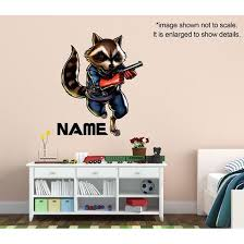 Personalized Rocket Raccoon Wall Decal Guardians Of The Galaxy Snappy Photo Gifts
