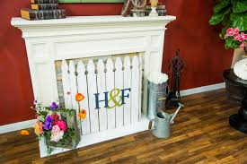 How To Home Family Diy Spring Fireplace Picket Fence