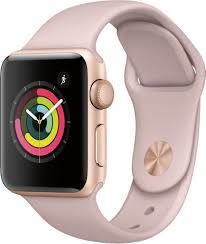 Best Buy: Apple Watch Series 3 (GPS), 38mm Gold Aluminum Case with Pink  Sand Sport Band Gold Aluminum MQKW2LL/A