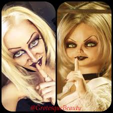 tiffany bride of chucky makeup