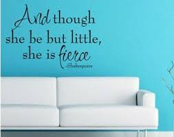 She Is Fierce Shakespeare Quote Vinyl Wall Decal Lettering Nursery Girls Room 8 95 Picclick
