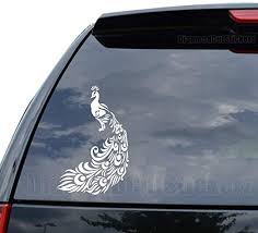 Amazon Com Peafowl Peacock Bird Decal Sticker Car Truck Motorcycle Window Ipad Laptop Wall Decor Size 07 Inch 18 Cm Tall Color Gloss White Home Kitchen
