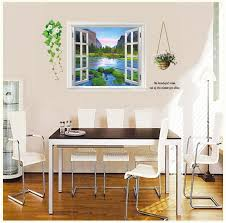 Ay893 Scenery False Window Wall Stickers Mountain Water Tree Lined Trail 3d Vinyl Decals Living Room Decoration Murals Wall Decor Stickers For Bedroom Wall Decor Stickers For Kids From Fst1688 7 03