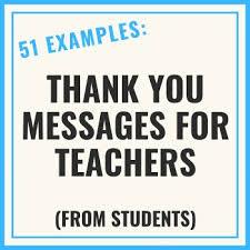 short thank you messages for teachers