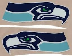 Seattle Seahawks Full Size Football Helmet Decals With Stripe Bumpers Ebay