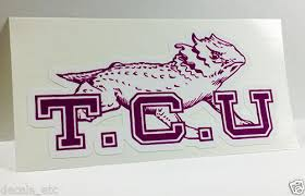 Texas Christian University Tcu Vintage Style Vinyl Decal Sticker For Sale Online