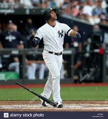 New York Yankees' Aaron Hicks reacts after hitting a home run ...