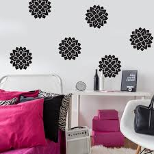 6 Large Flower Wall Decals Metallic Gold Silver And Other Colors