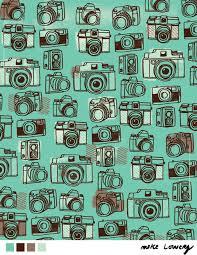Cameras pattern by Mike Lowery at Lilia Rogers | Dibujo de camara, Imagenes  de dibujos, Imágenes para sublimar
