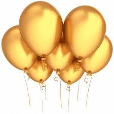 Ballon de baudruche nacré Or 36cm x 50 pièces, Ballons pas cher