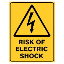 Warning Signs Risk Of Electric Shock Ebay