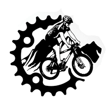16 4cm 14 5cm Mountain Bike Extreme Sport Vinyl Sticker Wish