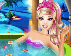 barbie superhero beauty spa barbie games