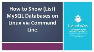 mysql databases on linux via