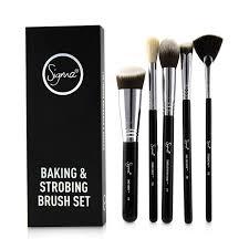 strobing brush set 5pcs womens makeup