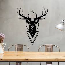 Stag Head Wall Art Stag Head Decor Above Bed Wall Art Above Etsy