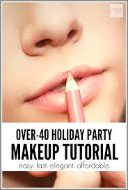 over 40 holiday party makeup tutorial