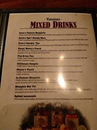 mixed drinks menu picture of famous