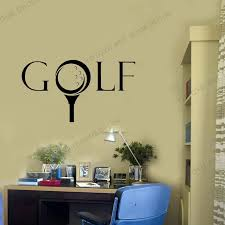 Custom Name Golf Player Wall Sticker Car Golf Decal Golf Posters Vinyl Wall Decals Decor Mural Sport Wall Decal Wz88 Wall Stickers Aliexpress