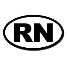 Bw Oval Rn Sticker Decal Registered Nurse Car Decal Size 3 X 5 Inch Walmart Com Walmart Com