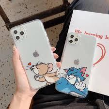 Phim Hoạt Hình Dễ Thương Tom Jerry Ốp Điện Thoại Cho Iphone 11 Pro Max XS  Max XR X 6 6 S 7 8 Plus Mèo Và Chuột Tình Yêu Ốp Lưng TPU Mềm