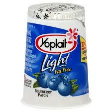 yoplait light yogurt blueberry fat free