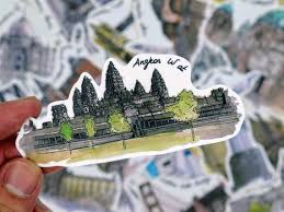 Notebook Stickers Angkor Wat Etsy