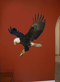 Hunting Eagle Wall Decal Cutout