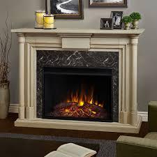 real flame maxwell grand whitewash