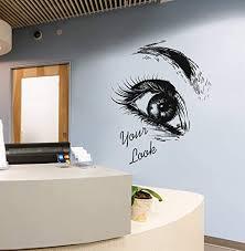 Amazon Com Eyelashes Eye Wall Decal Girls Eyelashes Eye Wall Sticker Eye Eyebrows Wall Decor Beauty Salon Decor Make Up Room Wall Decor Art Se120 Handmade