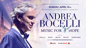 Concerto di Andrea Bocelli nel Duomo di Milano deserto nel giorno ...
