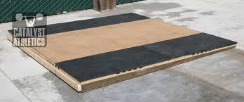 building a lifting platform on a slope