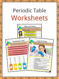 periodic table facts worksheets