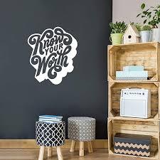 Amazon Com Vinyl Wall Art Decal Know Your Worth 26 5 X 23 Motivational Wall Art Decal Self Love Bedroom Living Room Dorm Office Decor Trendy Wall Art