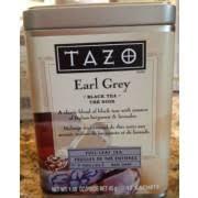 tazo earl grey black tea calories