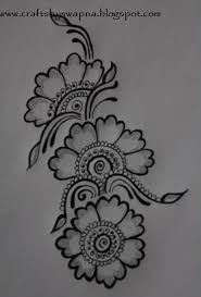 Simple Mehndi Mehndi Design Drawing Easy