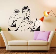 Tony Montana Movie Wall Stickers Vinyl Decal Art Mural Removable Tv Background Home Decor For Living Room E582 Decoration For Living Room Home Decorvinyl Decal Aliexpress
