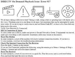 directv error codes 3 digit error