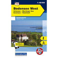 Outdoor map of Germany 43: Lake Constance West - Hallwag + Kummerley & Frey
