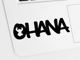 Ohana Stitch Vinyl Decal Ohana Family Decal Sticker Hawaiian Car Decal Stitch Sticker Stitching Blog
