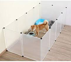 Resin Pet Playpen Portable Pet Fence For Small Sized Pets Puppy Kitten Rabbit Bunny Guinea Pig Enclosure Cage Indoor Outdoor Amazon Ca Home Kitchen