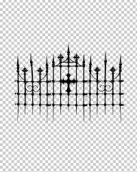 Fence Gate Cemetery House Png Clipart Angle Black And White Cemetery Chainlink Fencing Clip Art Free