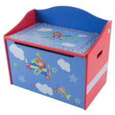 Toy Box Storage Bench Seat For Kids Organization Chest For Toys Stuffed Animals Clothes Blankets Bedroom Playroom Furniture By Hey Play Blue By Trademark Global Barnes Noble