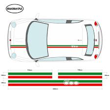 Hotmeini Car Styling Italian Flag Roof Stripe Set Car Decal Graphic Bonnet Boot Car Sticker For Fiat 500 Car Stickers Aliexpress