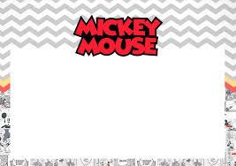 Invitaciones De Mickey Mouse Vintage Para Imprimir Gratis Ideas