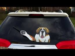 Waving Dog Decal Wipertags For Rear Vehicle Wipers Youtube