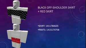 roblox id codes for shirt and pants
